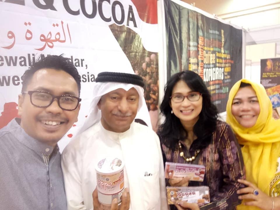Polewali Mandar hadir pada Event Chocolate and Coffee Exhibition di Bahrain