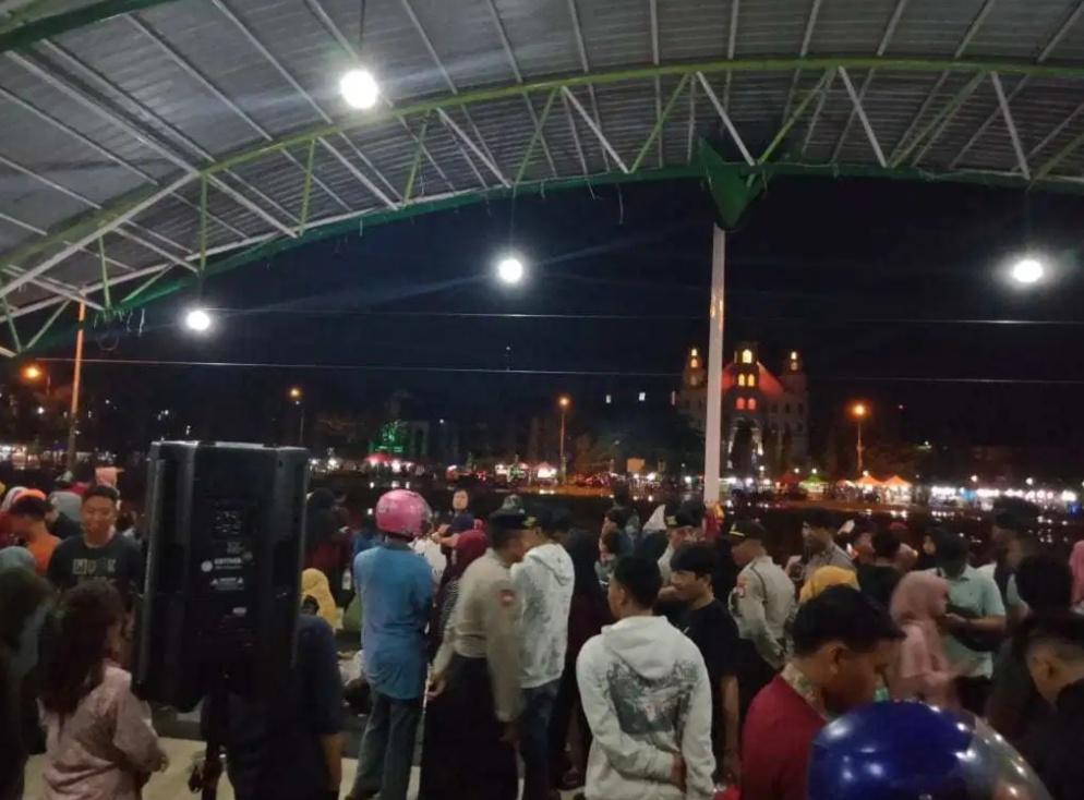 Suasana di Tribun Lapangan Andi Makkasau Parepare