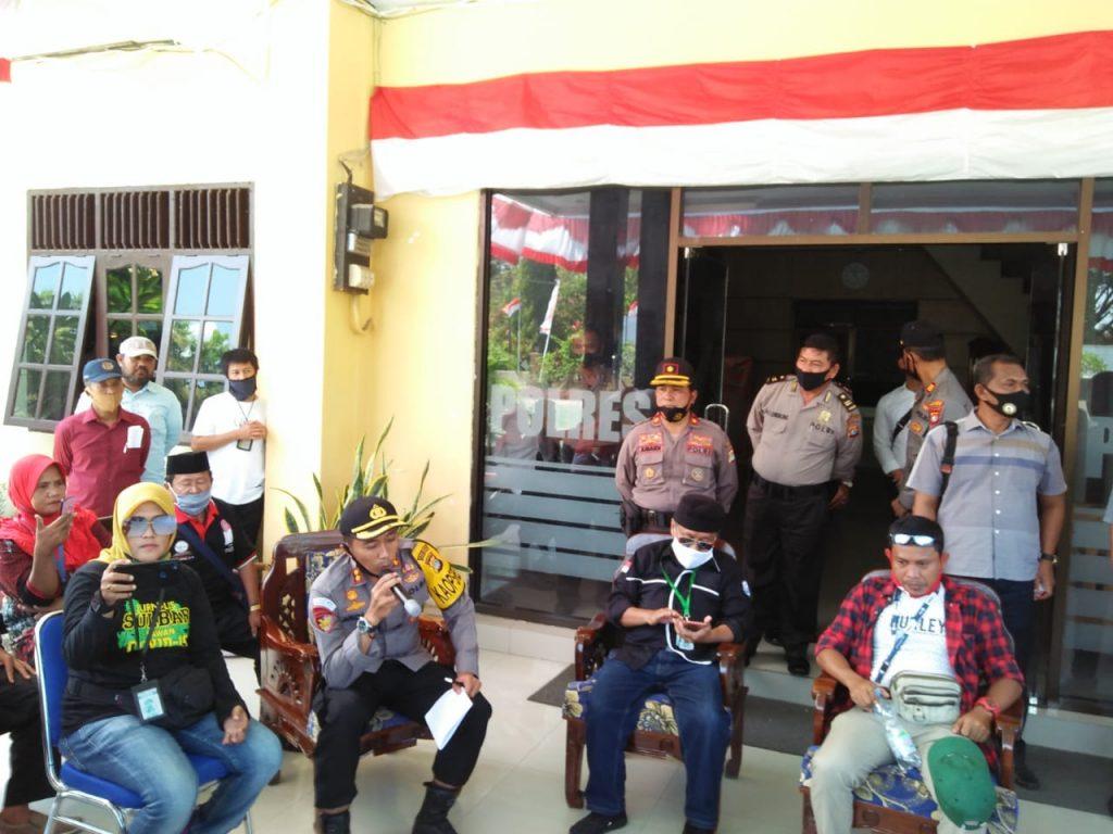 Kapolres Polman Menerima Perwakilan Massa Aksi Damai Jurnalis