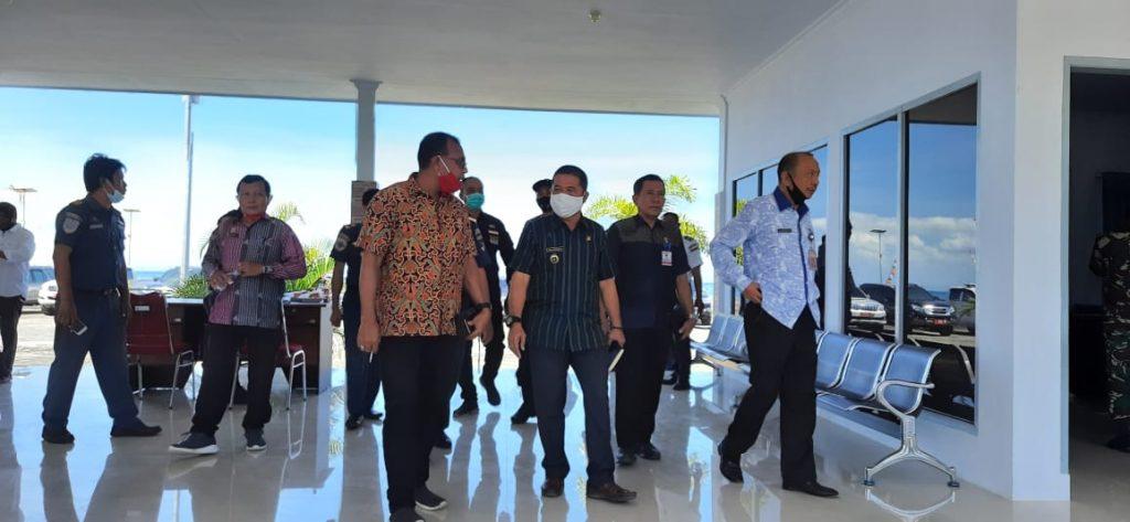 TA Gubenur beserta Rombongan Pemda Polewali Mandar Dalam Rangaka Tinjau Kesiapan Pelabuhan Silopo