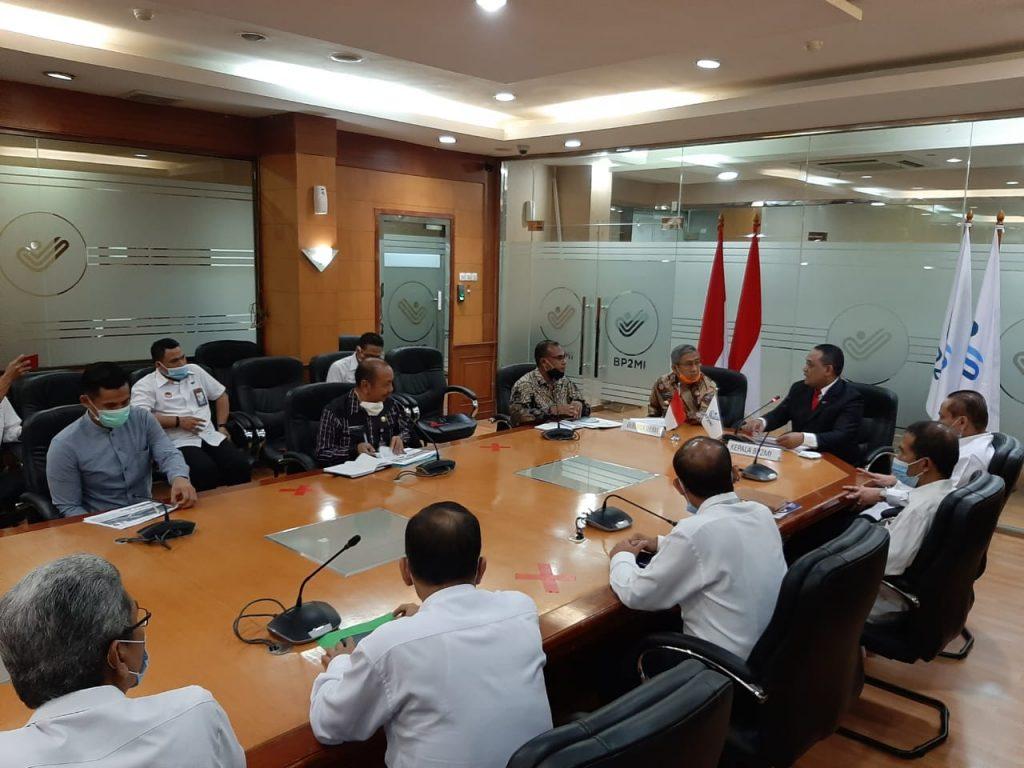 Rapat Bersama Tim Gubernur Sulbar di Kantor BP2MMI