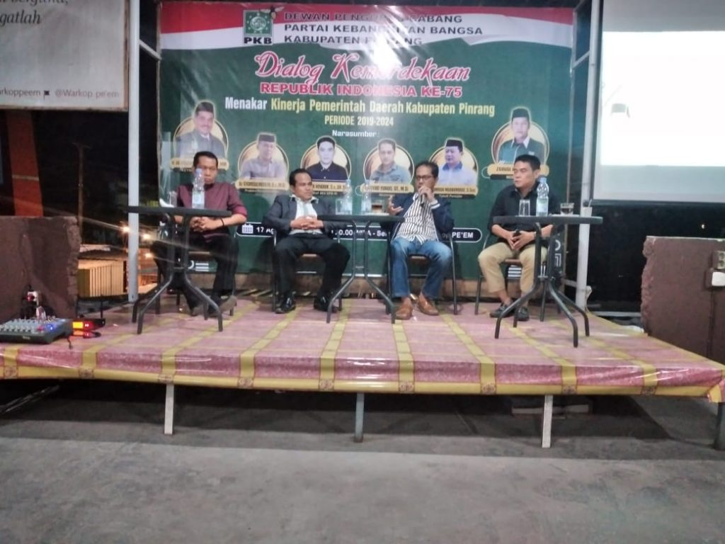 Pengurus Cabang Partai Kebangkitan Bangsa (DPC PKB) gelar Dialog Kemerdekaan di Warkop Peem