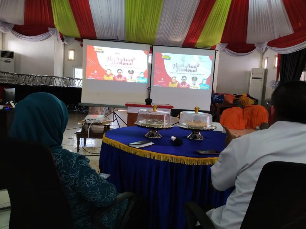 Pemerintah Kabupaten Enrekang mengikuti Peringatan Hari Anak Nasional (HAN) 2020 tingkat Provinsi Sulsel